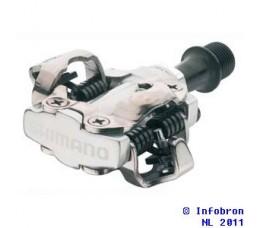 Shimano Pedalen Spd Shimano Pdm540 Zilver M/plaatjes Sm-sh