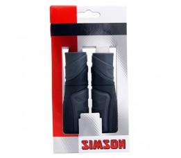 Simson Handvatten Full Grip Per Paar Zwart/grijs