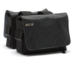 New Looxs Tas  Mondi Dubbel Canvas Crack Black