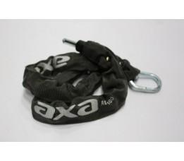 Axa Slotinsteekketting  100cm Zwart, Opdruk Zilver